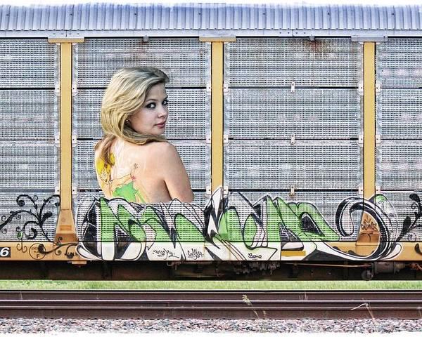 Graffiti Poster featuring the photograph Graffiti - Tinkerbell by Graffiti Girl