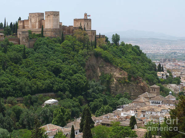 Alhambra Poster featuring the photograph Granada - Alhambra Towers by Phil Banks