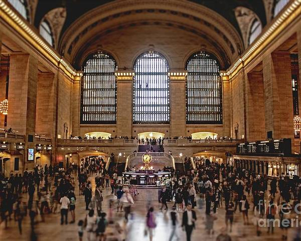 Grand Poster featuring the photograph Grand Central by Andrew Paranavitana