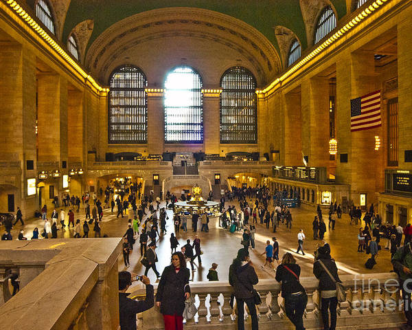 Grand Central Terminal Poster featuring the photograph Grand Central Terminal Nyc by Zbigniew Krol