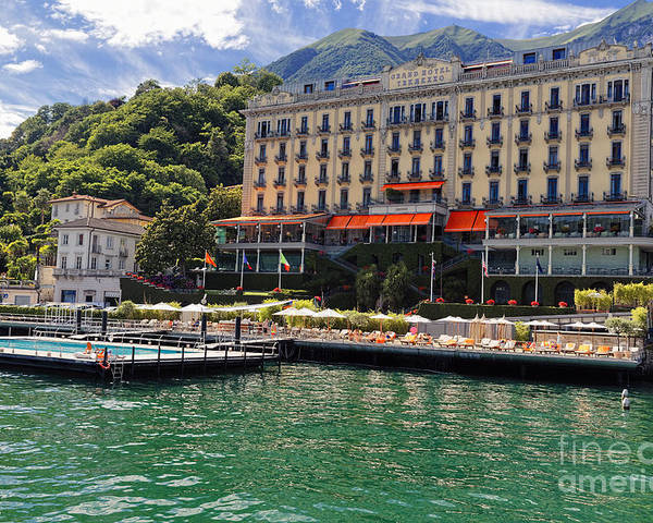 Grand Hotel Tremezzo On Lake Como Poster By George Oze