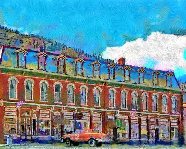 Shop Poster featuring the painting Grand Imperial Hotel by Jeffrey Kolker