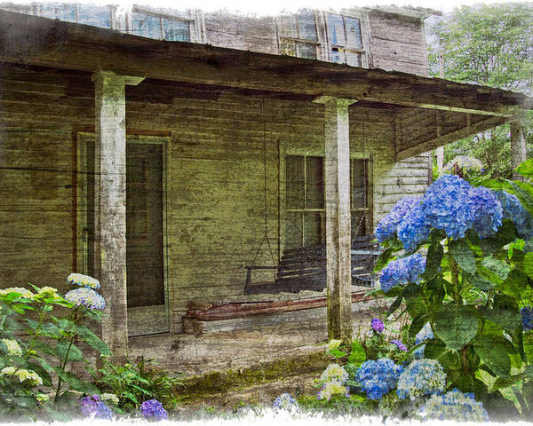 Appalachia Poster featuring the photograph Grandma's Porch by Debra and Dave Vanderlaan