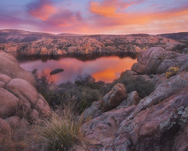 Watson Lake Poster featuring the photograph Granite Sorbet by Peter Coskun
