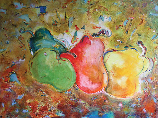 Pears Poster featuring the painting Granny Smith - Original Sold by Bernard RENOT