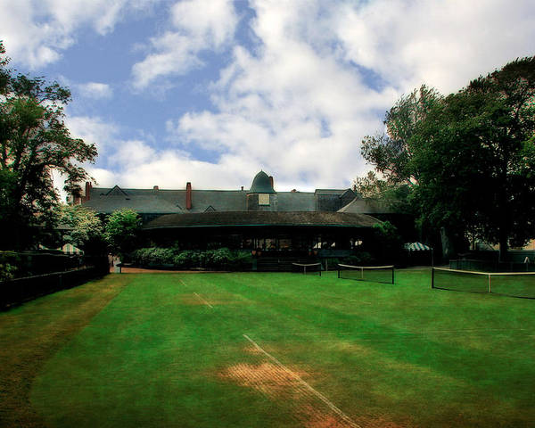 Tennis Court Poster featuring the photograph Grass Courts At The Hall Of Fame by Michelle Calkins