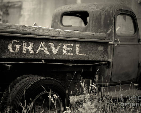 Old Truck Poster featuring the photograph Gravel by Randall Cogle