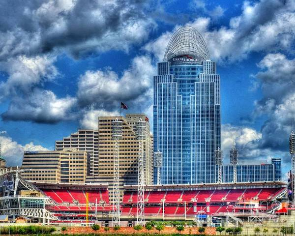 Great American Ballpark Poster featuring the photograph Great American Ballpark by Mel Steinhauer