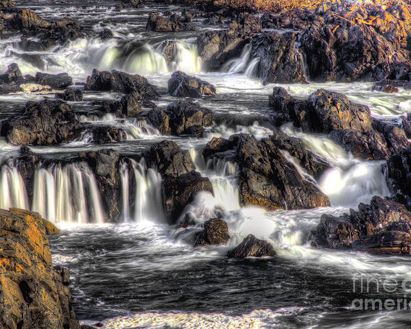 Waterfalls Poster featuring the photograph Great Falls Va Side by I Michael W