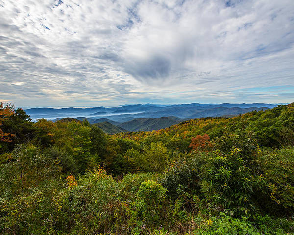 Green Knob Overlook Poster featuring the photograph Green Knob Overlook by John Haldane