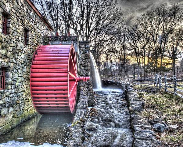 Grist Poster featuring the photograph Grist Mill Sudbury by Adam Green