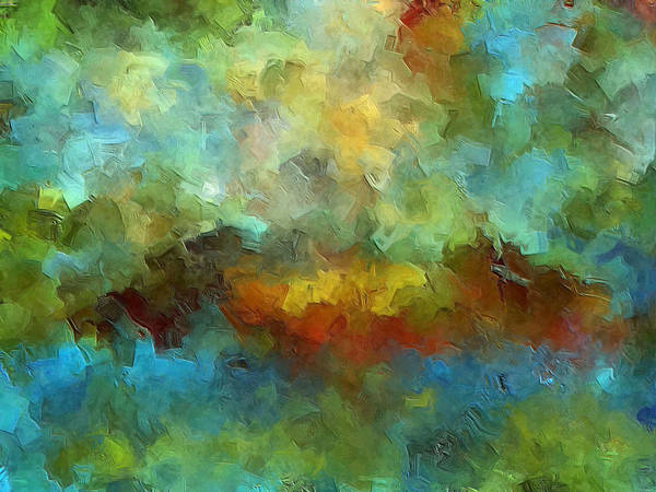 Abstract Art Poster featuring the painting Grotto by Ely Arsha