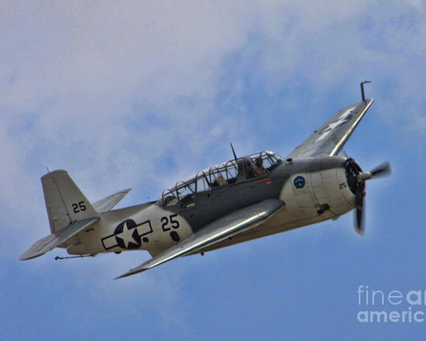 Grumman Poster featuring the photograph Grumman Tbm-3e Avenger by Tommy Anderson