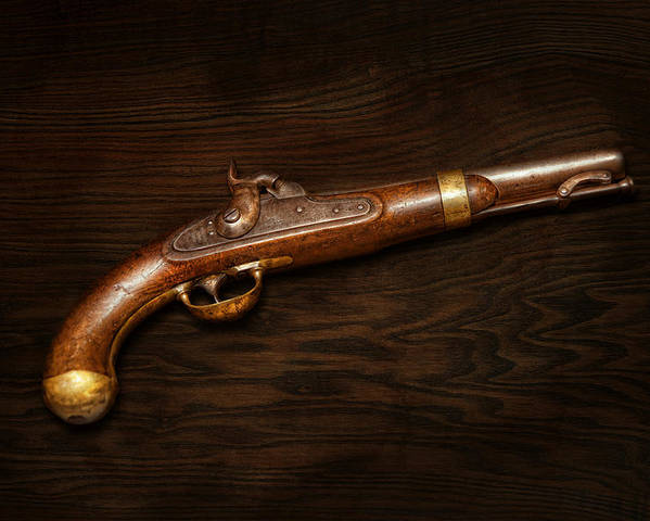 Gun Poster featuring the photograph Gun - Us Pistol Model 1842 by Mike Savad