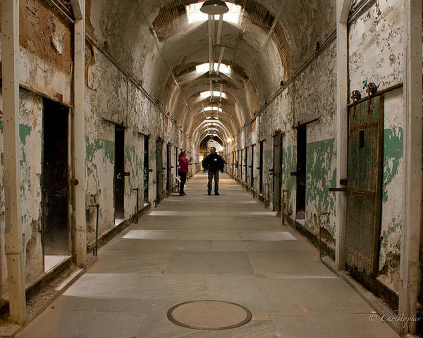 Eastern State Penitentiary Poster featuring the photograph Hallways by Chris Gent
