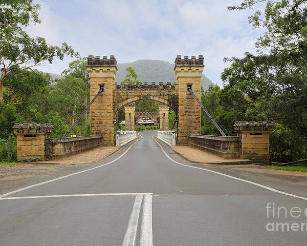 Bridge Poster featuring the photograph Hampden Bridge Kangaroo Valley by Leah-Anne Thompson