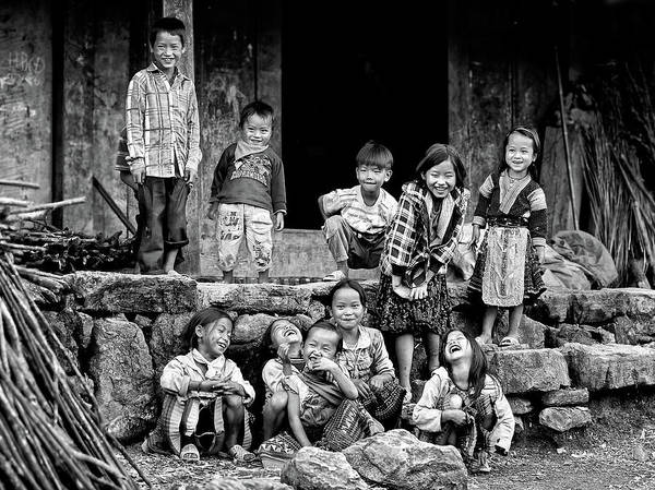 Ethnic Poster featuring the photograph Happiness Is Having Nothing... by John Moulds