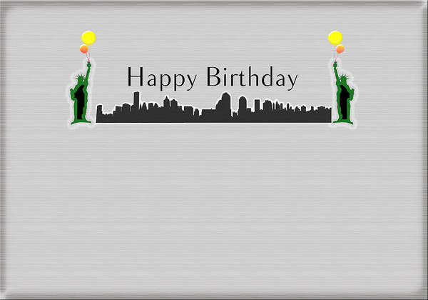 Happy Birthday Poster Featuring The Digital Art Card