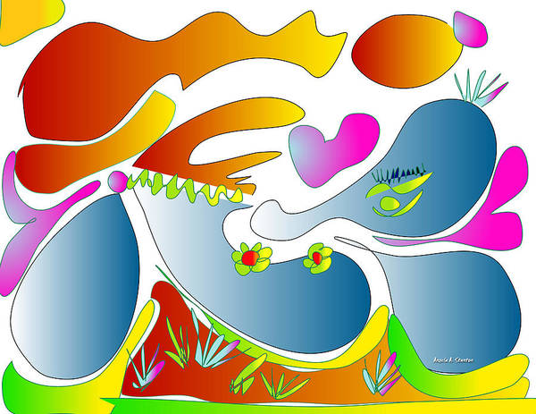 Spring Poster featuring the painting Happy Face Of Spring by Angela Stanton