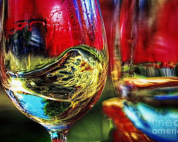 Two For One Poster featuring the digital art Happy Hour 2 For 1 by Davids Digits