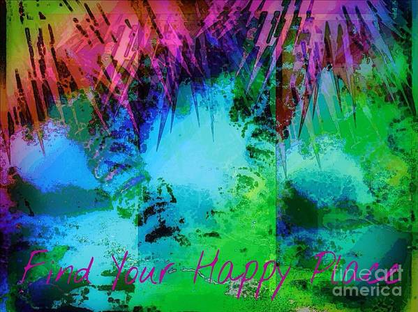 Art Poster featuring the mixed media Happy Place 1 by Michelle Stradford