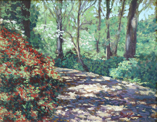 Flower Landscape Paintings Poster featuring the painting Happy Trails To You by David Zimmerman