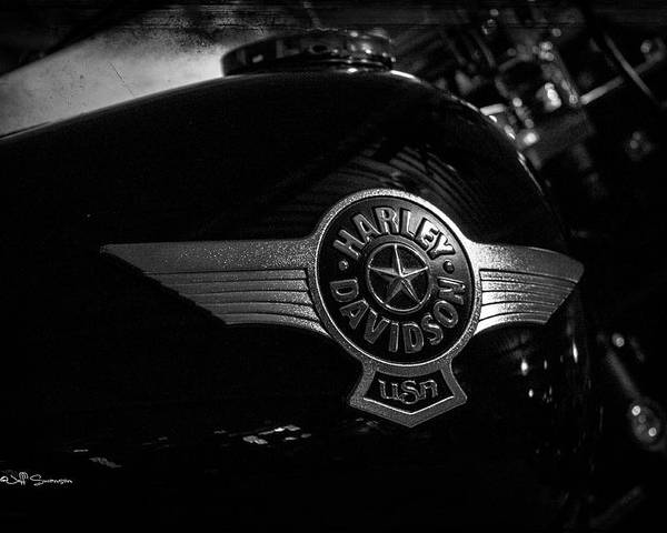 Harley Davidson Poster featuring the photograph Harley Davidson Usa by Jeff Swanson