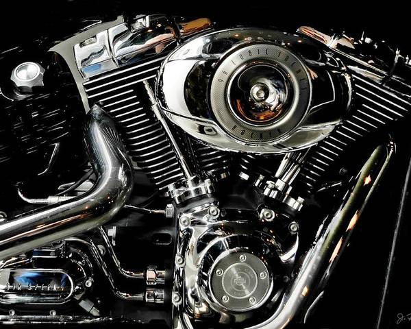 Motorcycle Poster featuring the photograph Harley by Joe Bonita