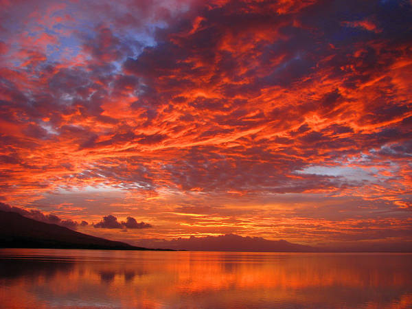Molokai Poster featuring the photograph Hawaii Sunrise by James Temple
