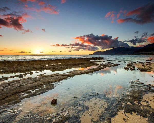 Hawaiian Poster featuring the photograph Hawaii Sunset by Robert Aycock