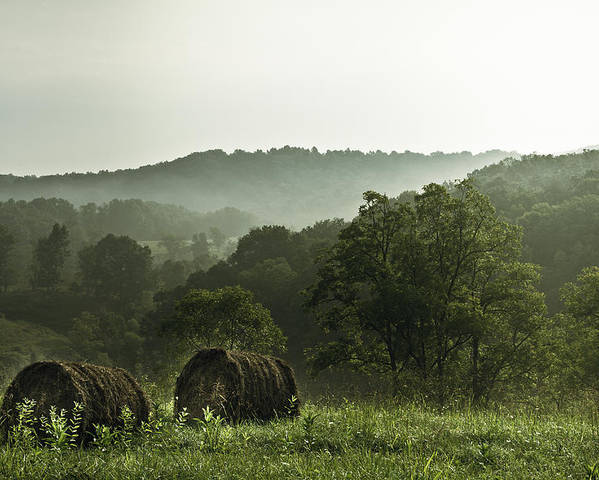 Hay Poster featuring the photograph Hay Bales by Shane Holsclaw