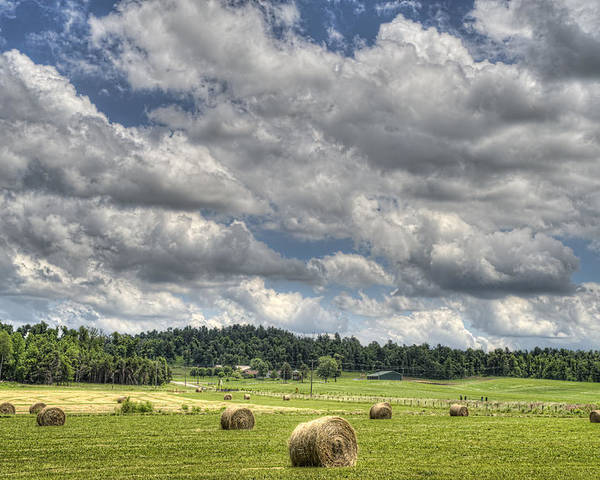 Hayfield Poster featuring the photograph Hay Field by Jim Pearson