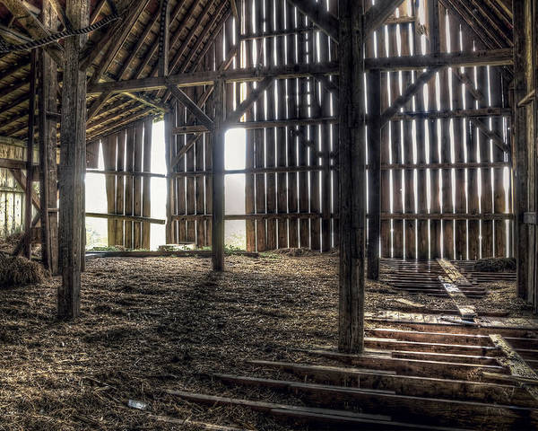 Barn Poster featuring the photograph Hay Loft 2 by Scott Norris