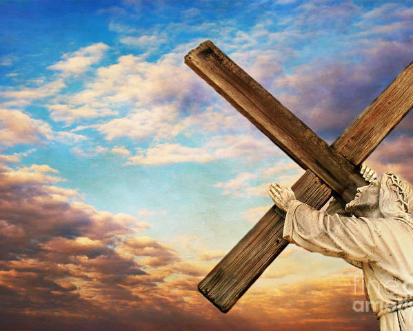 Aged Poster featuring the photograph He Has Risen by Darren Fisher