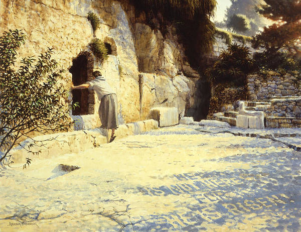 Jerusalem Poster featuring the painting He Is Risen by Graham Braddock