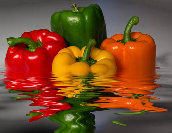 Peppers Poster featuring the photograph Healthy Reflections by Shane Bechler