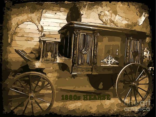 Hearse Images Poster featuring the photograph Hearse Poster by Crystal Loppie