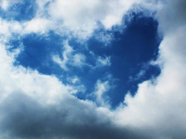 Cloud Poster featuring the photograph Heart In The Sky by Anna Villarreal Garbis