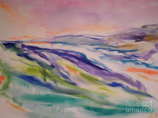 Abstract Landscape Poster featuring the painting heathcliff II by Sharon Worley