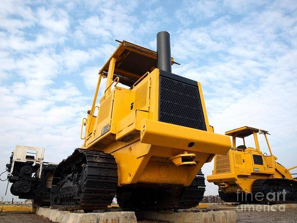 Machinery Poster featuring the photograph Heavy Construction Equipment by Yali Shi