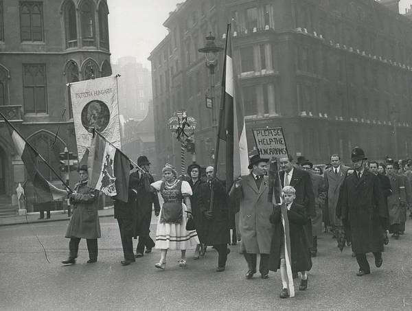 retro Images Archive Poster featuring the photograph �help Hungary� Parade In Streets Of London by Retro Images Archive