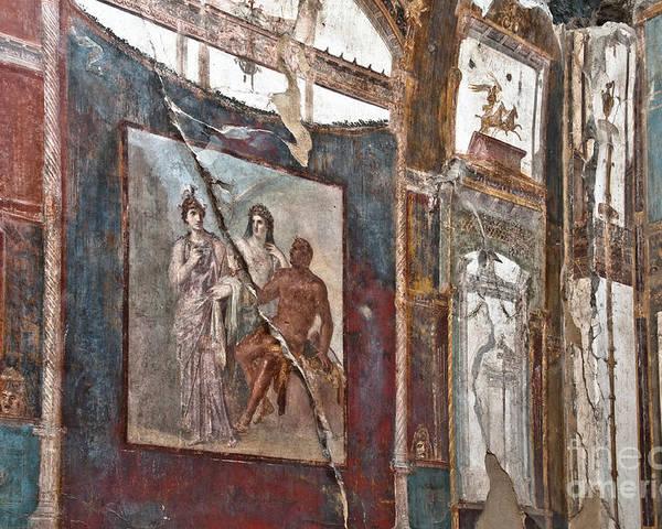 Herculaneum Poster featuring the photograph Herculaneum Wall by Marion Galt