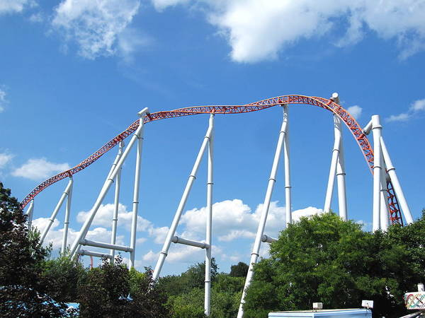 Hershey Poster featuring the photograph Hershey Park - Storm Runner Roller Coaster - 12126 by DC Photographer