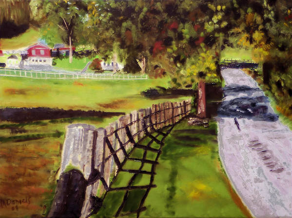 Painting Poster featuring the painting Hidden Brook Farm by Michael Daniels