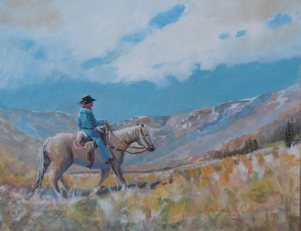 Cowboy Poster featuring the photograph High Trails by Heather Coen