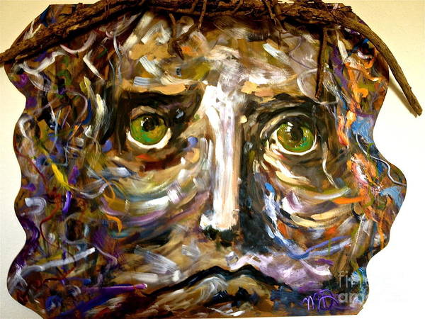 Christ Poster featuring the painting Him by Michelle Dommer