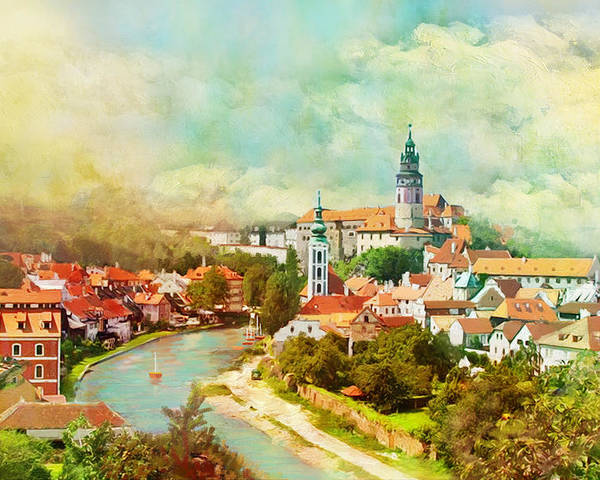 Czech Republichistoric Centre Of Český Krumlovhistoric Centre Of Praguehistoric Centre Of Telčpilgrimage Church Of St John Of Nepomuk At Zelená Horakutná Hora: Historical Town Centre With The Church Of St Barbara And The Cathedral Of Our Lady At Sedleclednice-valtice Cultural Landscapegardens And Castle At Kroměřížholašovice Historical Village Reservationlitomyšl Castleholy Trinity Column In Olomouctugendhat Villa In Brnojewish Quarter And St Procopius' Basilica In Třebíč Poster featuring the painting Historic Centre Of Cesky Krumlov by Catf