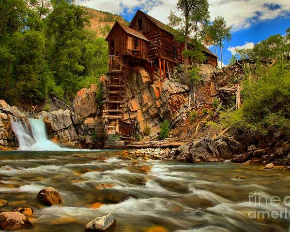 Crystal Colorado Poster featuring the photograph Historic Colorado Landscape by Adam Jewell