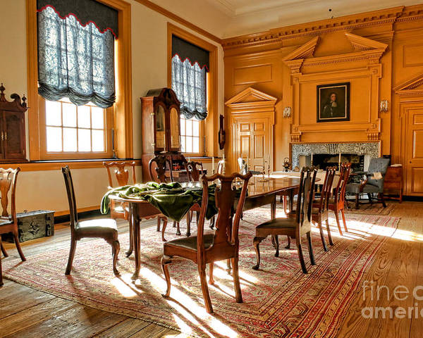 Philadelphia Poster featuring the photograph Historic Governor Council Chamber by Olivier Le Queinec