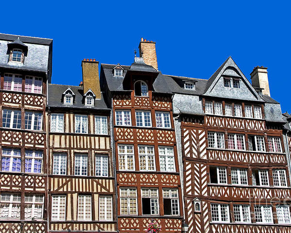 Architectural Poster featuring the photograph Historic Rennes by Jane Rix